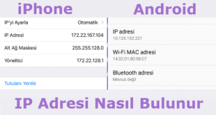 Cep Telefonun IP Adresi Nasıl Bulunur Makalesi için Hazırladığımız Görseller.