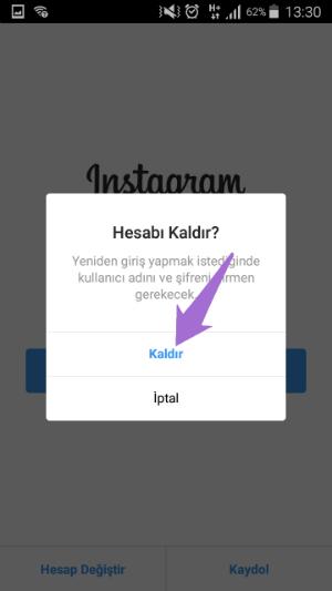 Instagram Hatırlanan Hesabı Silme