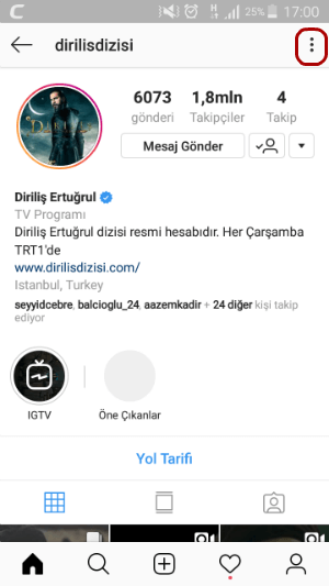 Instagram Sessize Alma Adımları