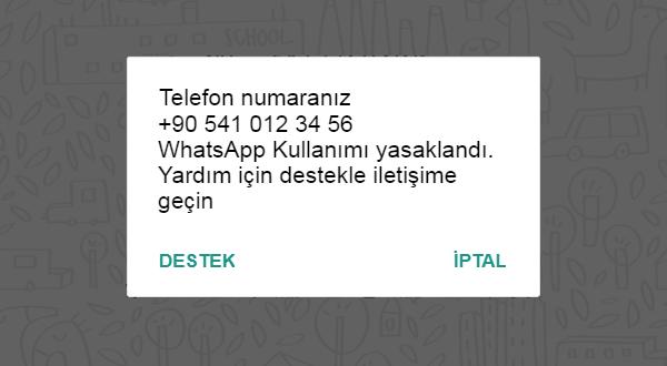 Telefon Numaranız WhatsApp Kullanımı Yasaklandı. Yardım için destekle iletişime geçin uyarısı nedir ve bu sorun nasıl çözülür.