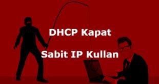 DHCP Devre Dışı Bırakma makalesi için ekran görüntüsü.