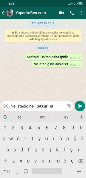 WhatsApp İtalik Yazı Tipi
