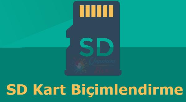 Android SD Kart Biçimlendirme için birçok yöntem kullanılabilir.