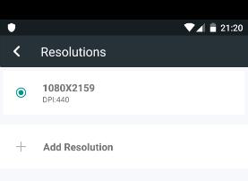 Android'de Sanal Makine Çözünürlüğü