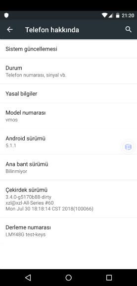 Android Sanal Derleme Numarası