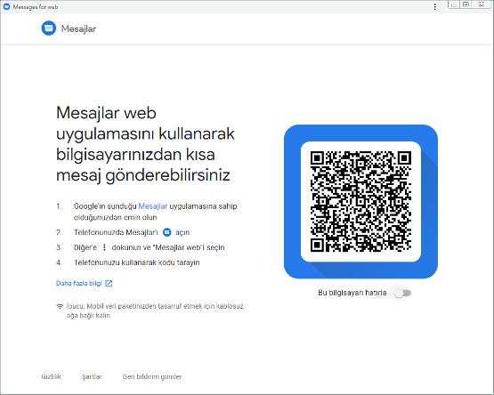 Android Web Mesajlaşma Bilgisayardan SMS Gönderme