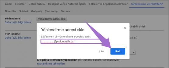 Gmail Mail Yönlendire