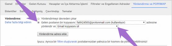 Gmail Mail Yönlendirme