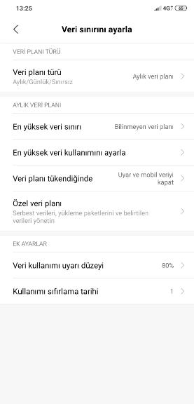 Android Mobil Veri Açılmıyor Veri Sınırlama