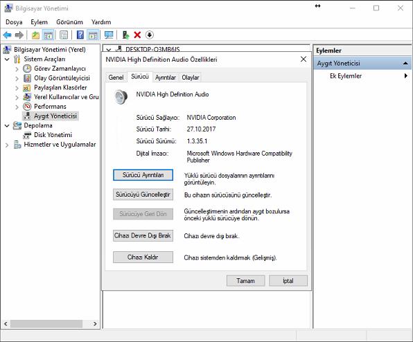 Windows 10 Kulaklık Driver