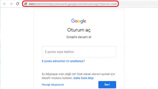 Gmail Güvenlik Kimlik Avı Bağlantısı