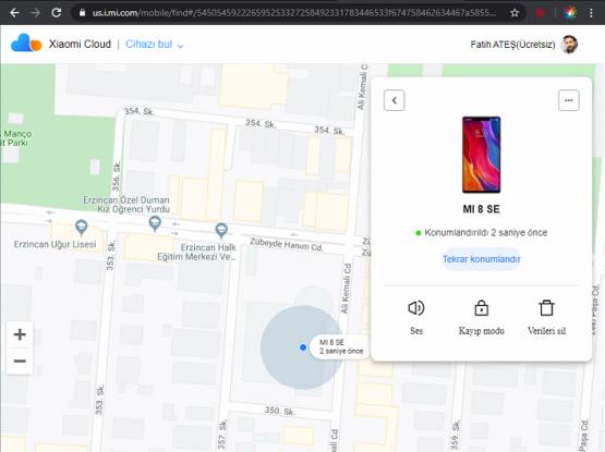 Xiaomi Ekran Şifremi Unuttum