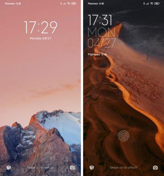 MIUI 11 ve MIUI 12 Kilit Ekranı Farklılıkları